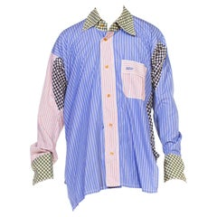 1990S Vivienne Westwood Multicolor Striped Cotton Mixed Men's Shirting Fabric D