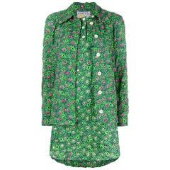 1990s Walter Van Beirendonck Green Printed Suit