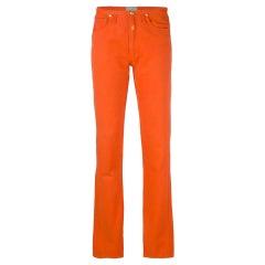 1990s Walter Van Beirendonck Orange Jeans