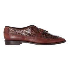 1990s William Crocodile Leather Loafers
