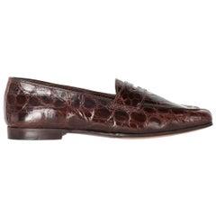 1990s William Crocodile Skin Loafers