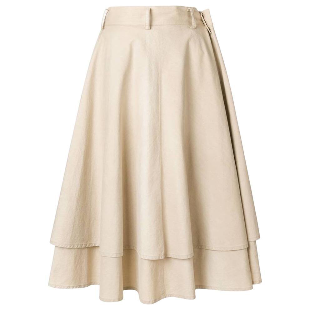 1990s Yohji Yamamoto Beige Layered Skirt