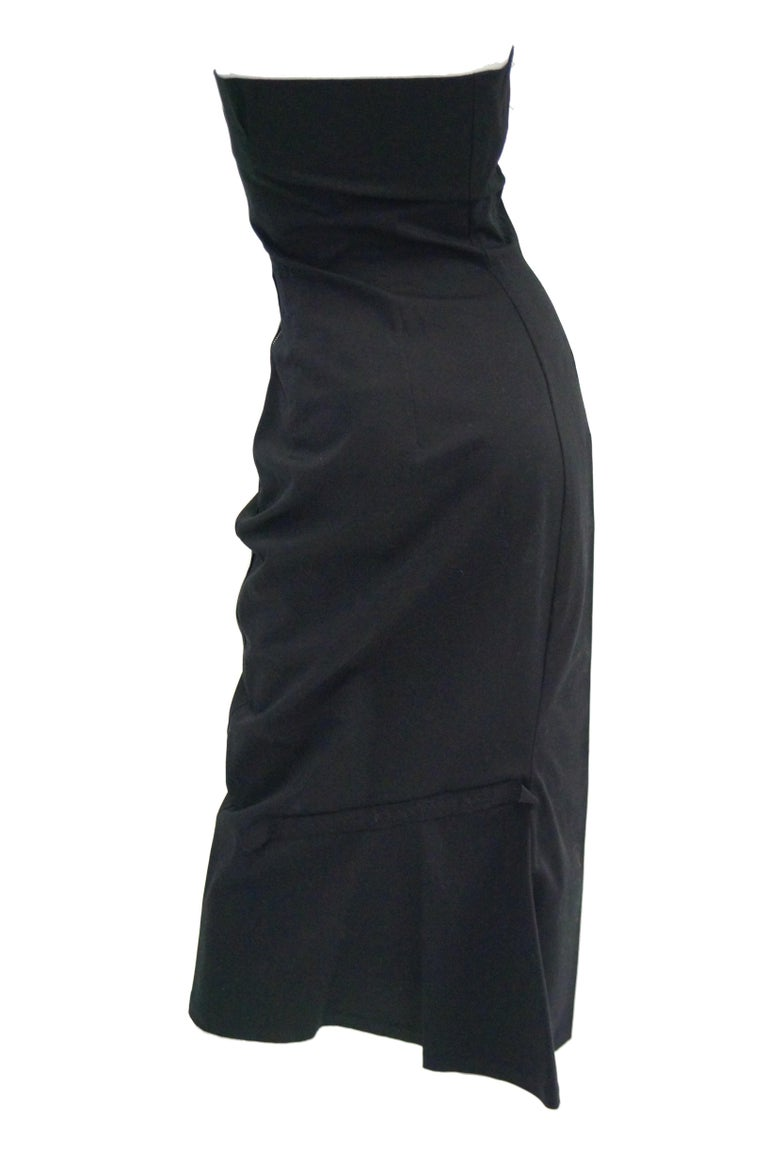 1990s Yohji Yamamoto Black Cotton Dress For Sale 1