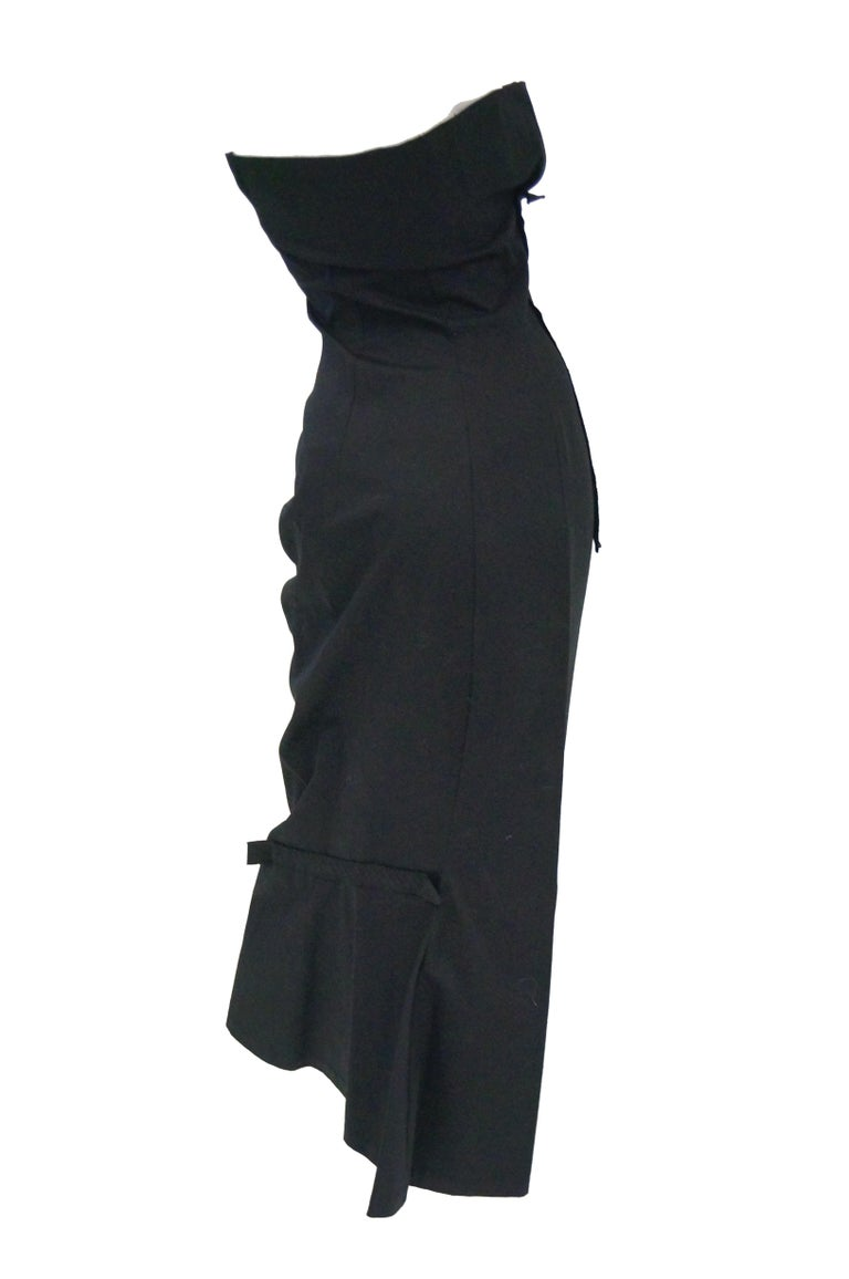 1990s Yohji Yamamoto Black Cotton Dress For Sale 2
