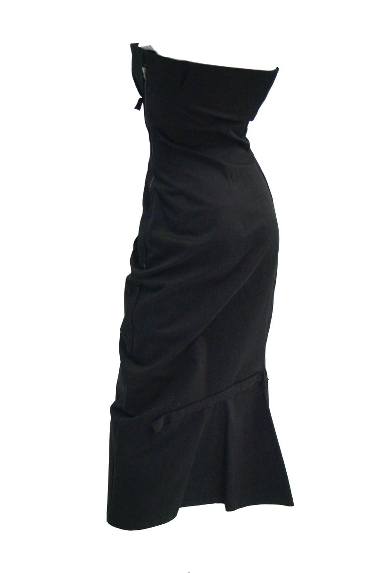 1990s Yohji Yamamoto Black Cotton Dress For Sale 3