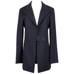 1990s Yohji Yamamoto Black Light Pure Wool Jacket