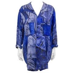 1990s Yohji Yamamoto Tropic Blue Shirt