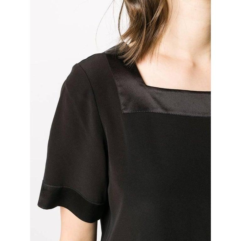 Women's 1990s Yves Saint Laurent Black Blouse For Sale
