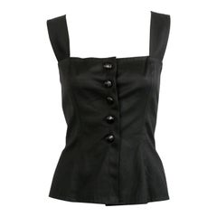 1990's YVES SAINT LAURENT black bustier top