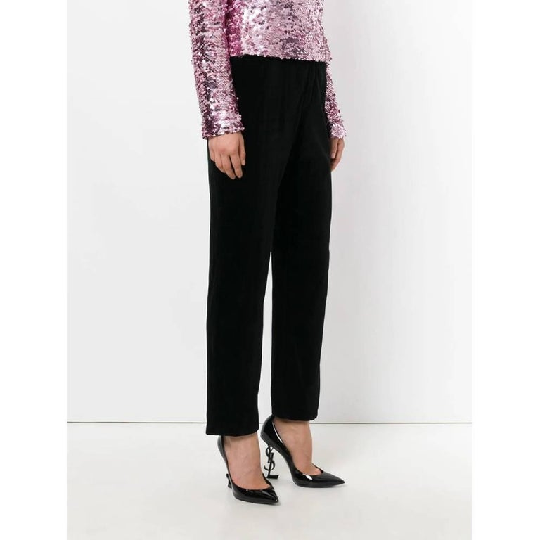 1990s Yves Saint Laurent Black Trousers In Good Condition For Sale In Lugo (RA), IT