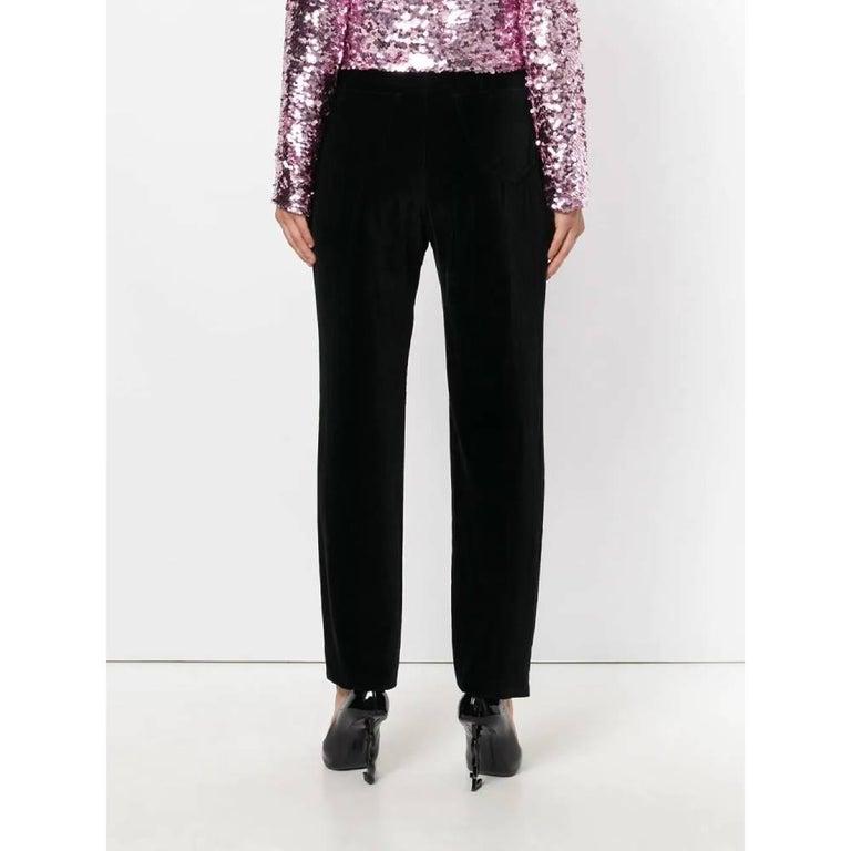 Women's 1990s Yves Saint Laurent Black Trousers For Sale