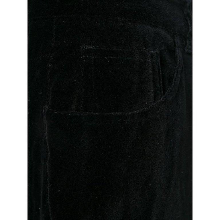 1990s Yves Saint Laurent Black Trousers For Sale 1