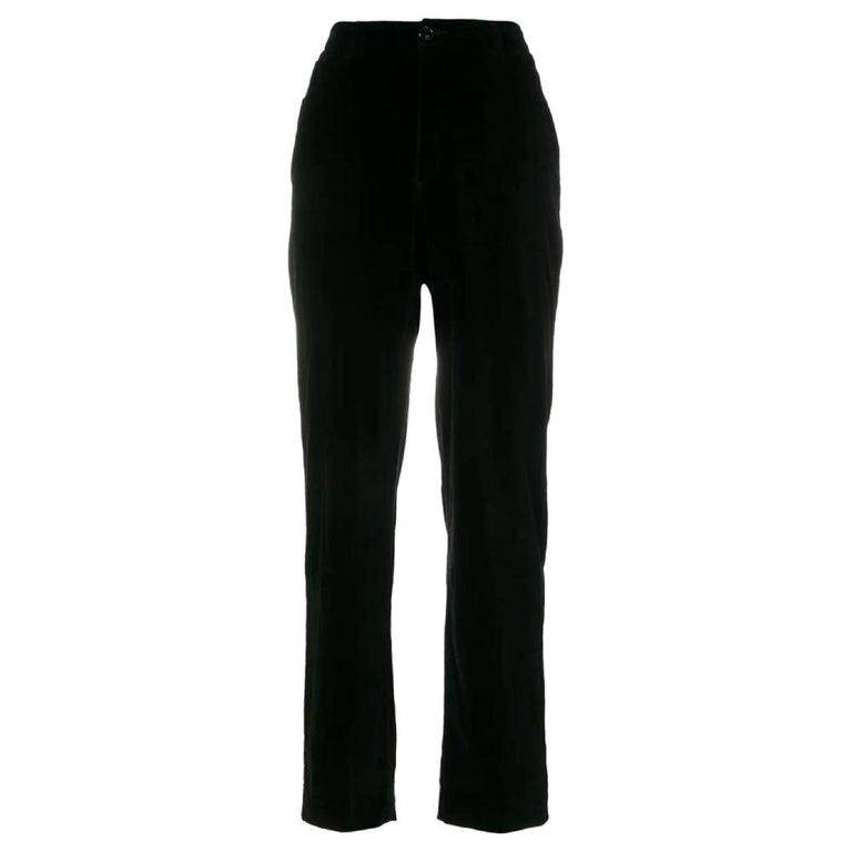 1990s Yves Saint Laurent Black Trousers For Sale
