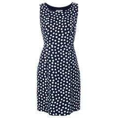 1990s Yves Saint Laurent Blue Navy Dress