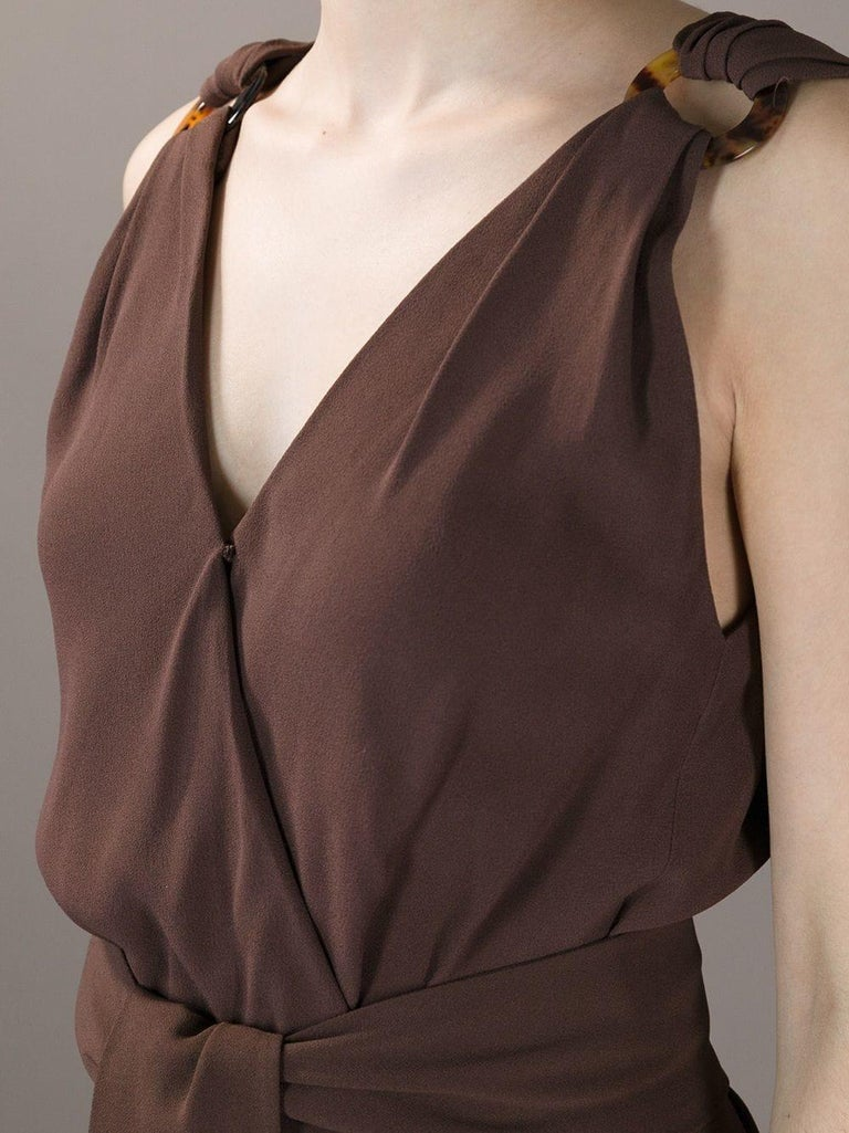 Women's 1990s Yves Saint Laurent Brown Dress For Sale