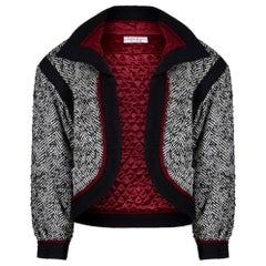 1990s Yves Saint Laurent Mohair Herringbone Tweed Jacket