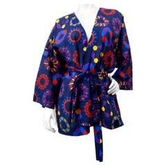1990s Yves Saint Laurent Radial Motif Kimono Jacket