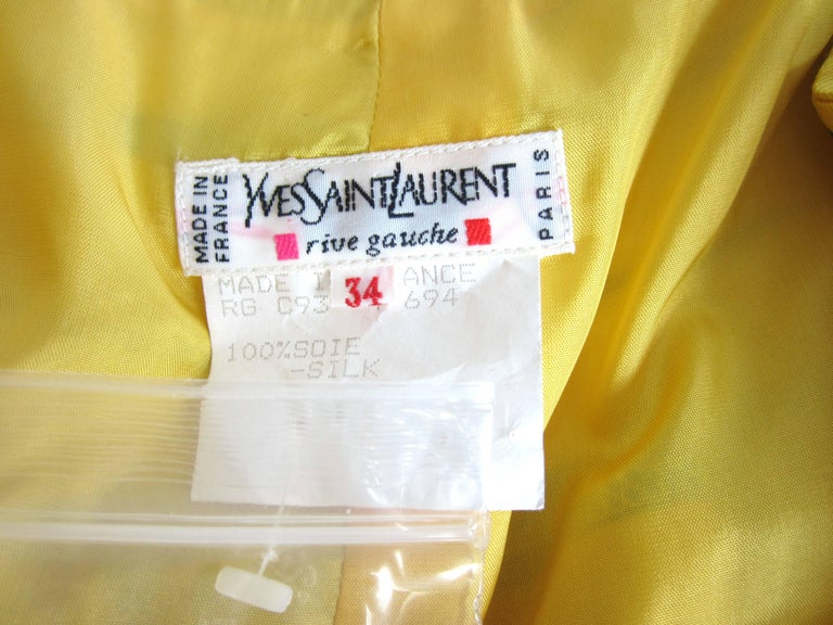 1990s Yves Saint Laurent Silk Dupioni Pleated Skirt size 34  For Sale 1