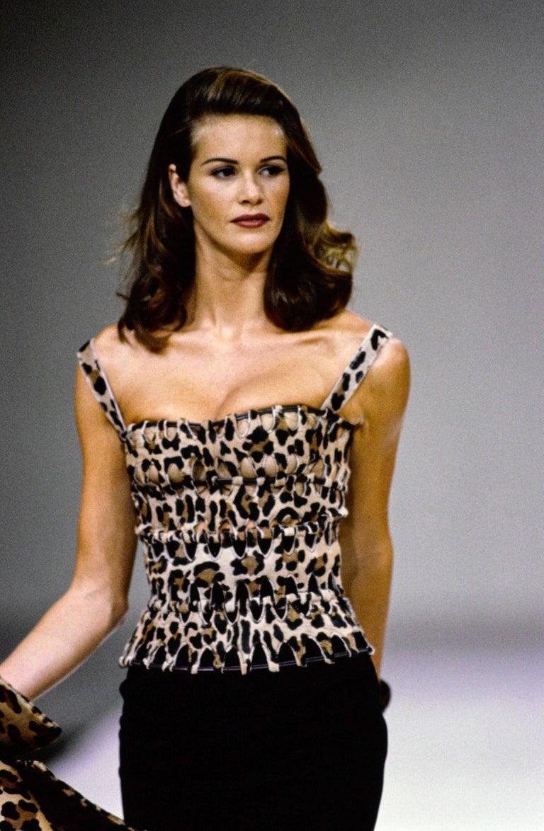 1991 AZZEDINE ALAIA pony skin leopard belt For Sale 1