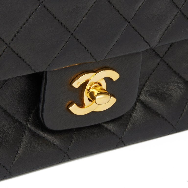 1991 Chanel Black Quilted Lambskin Vintage Classic Single Flap Bag with Wallet  3