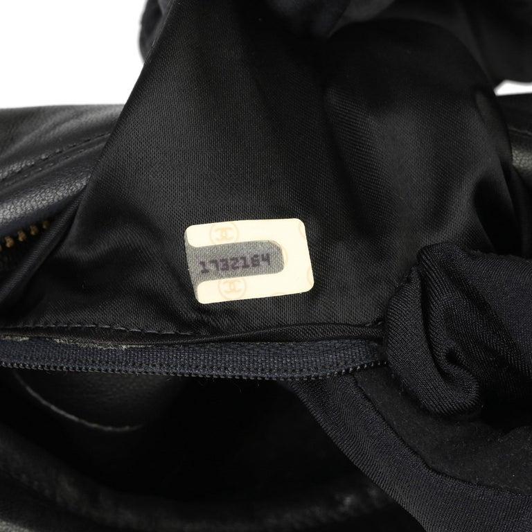 1991 Chanel Black Quilted Lambskin Vintage Timeless Fringe Camera Bag For Sale 4