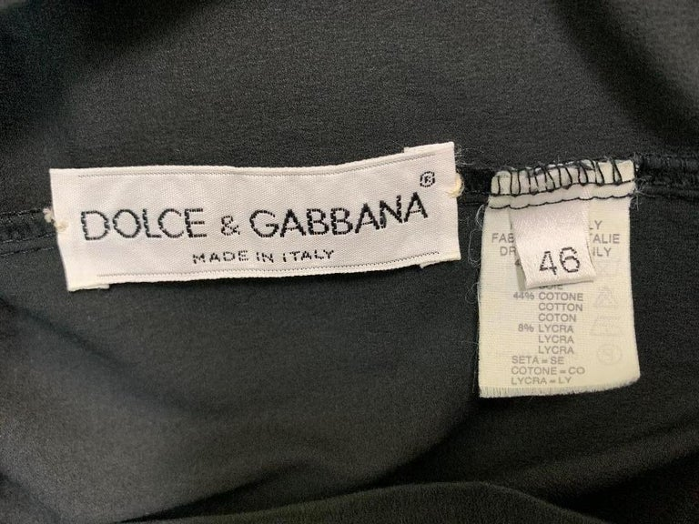 Women's 1991 Dolce & Gabbana Thin Stretchy Bodycon Strapless Tube Dress For Sale