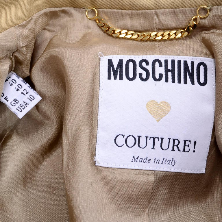 1991 Franco Moschino Couture Survival Jacket in Khaki Cotton Urban Jungle Tools For Sale 12
