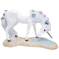 "1991 Princeton Gallery Porcelain Unicorns ""Love's Purity"""