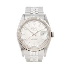 1991 Rolex Datejust Steel & White Gold 16234 Wristwatch