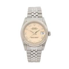 1991 Rolex Datejust Steel & White Gold 68274 Wristwatch
