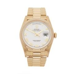 1991 Rolex Day-Date Yellow Gold 18238 Wristwatch