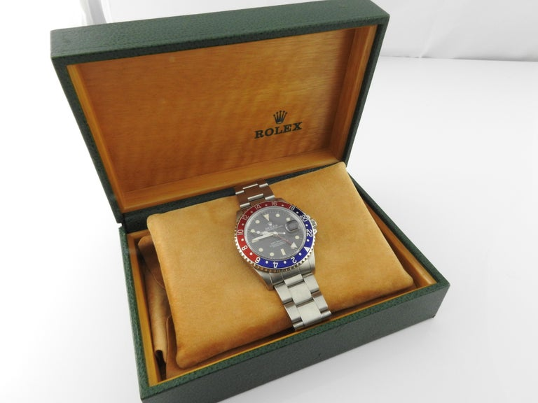 1991 Rolex GMT - Master Pepsi Bezel Men's Watch 16700 Automatic For Sale 8