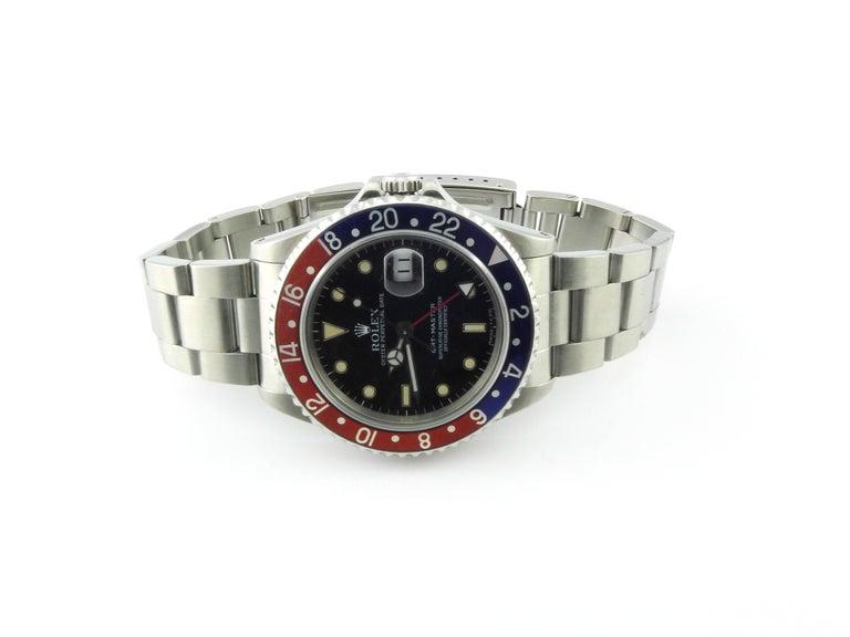 1991 Rolex GMT - Master Pepsi Bezel Men's Watch 16700 Automatic For Sale 1