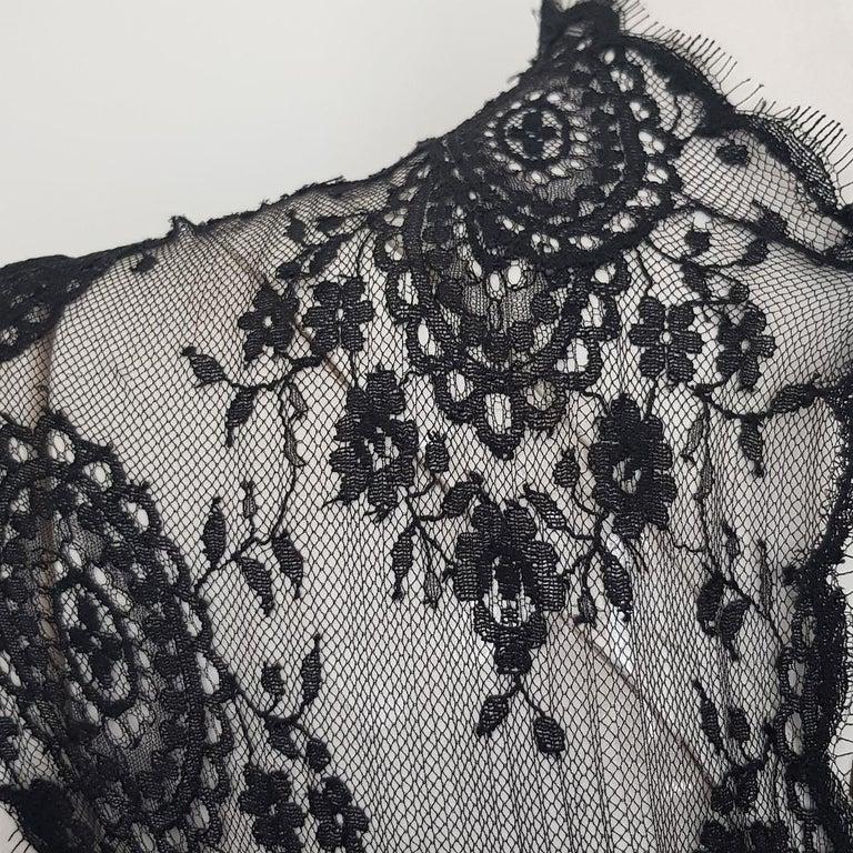 Women's 1991 Valentino Boutique Black Lace Dress S For Sale