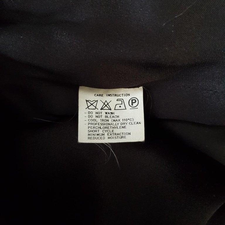 1991 Valentino Boutique Black Lace Dress S For Sale 5
