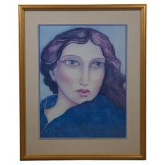 1991 Vintage Miguel Martinez Signed Lithograph Portrait Print