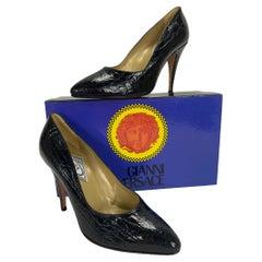 1991 Vintage Versace Atelier Crocodile Shoes