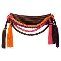 1991s Yves Saint Laurent Catwalk Iconic Multicolor Braided belt