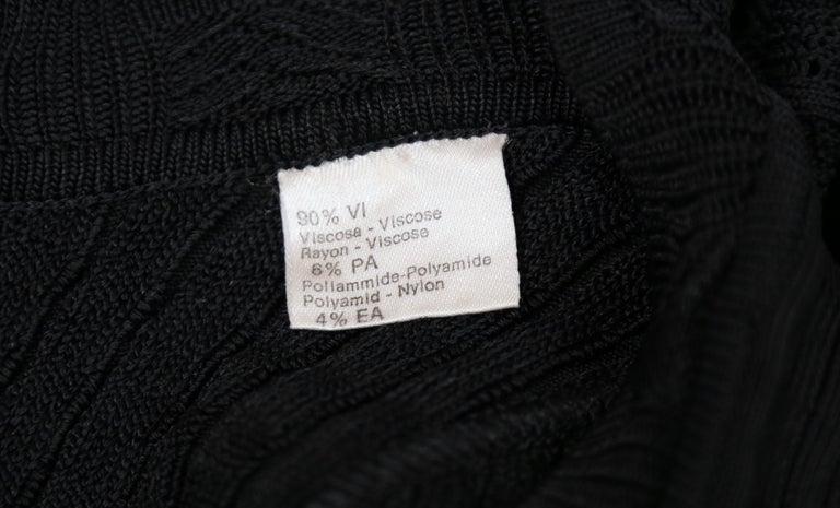1992 AZZEDINE ALAIA black open knit long dress For Sale 4