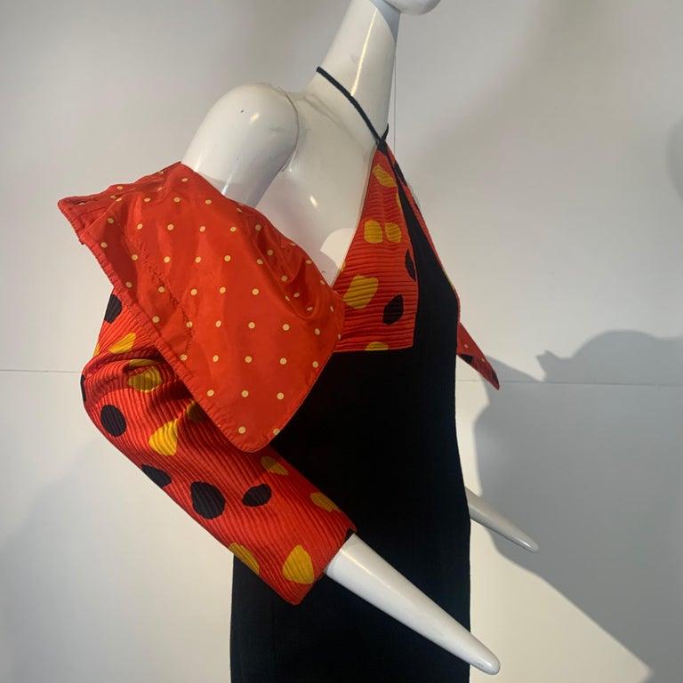 1992 Geoffrey Beene Red Black & Yellow Polka Dot Mini Dress & Bolero Size 6 For Sale 9