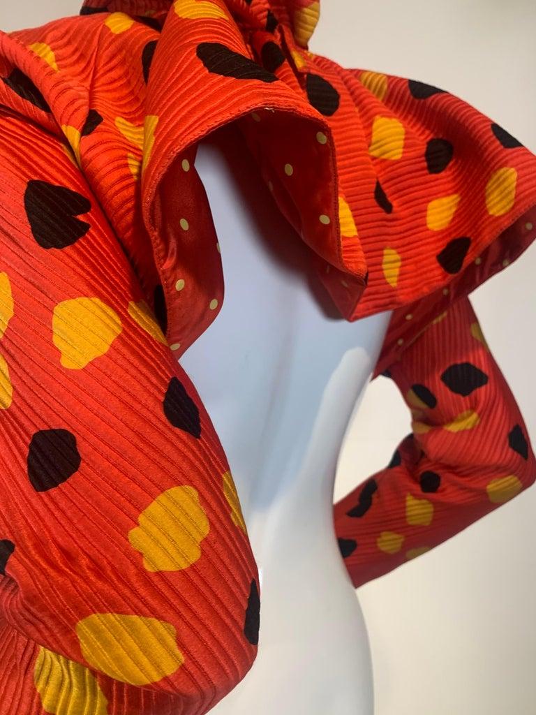 1992 Geoffrey Beene Red Black & Yellow Polka Dot Mini Dress & Bolero Size 6 For Sale 12
