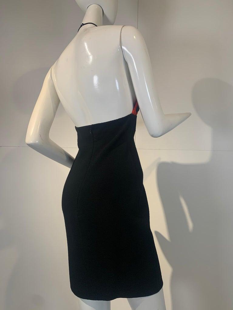Women's 1992 Geoffrey Beene Red Black & Yellow Polka Dot Mini Dress & Bolero Size 6 For Sale
