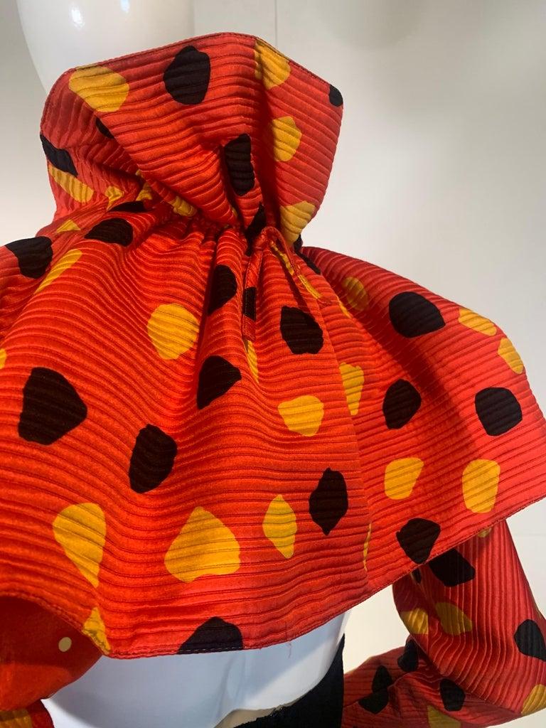 1992 Geoffrey Beene Red Black & Yellow Polka Dot Mini Dress & Bolero Size 6 For Sale 5