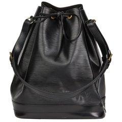 1992 Louis Vuitton Black Epi Leather Vintage Noé