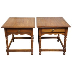 1992 Vintage Pennsylvania House Oak Side End Accent Tables or Nightstands