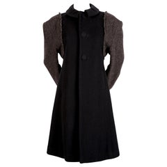 1993 Comme des Garcons donegal wool runway coat with oversized shoulders