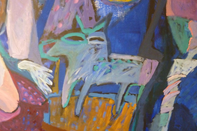 1993 Contemporary Impressionist Painting of a Jazz Performance by Annemiek Vos For Sale 1
