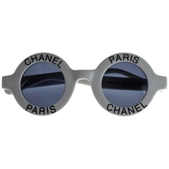 1993 Iconic CHANEL Round White Sunglasses