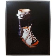 "1993 Janet Biggs ""One"" Cibachrome Photograph Leg Brace"