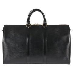 1993 Louis Vuitton Black Epi Leather Keepall 50